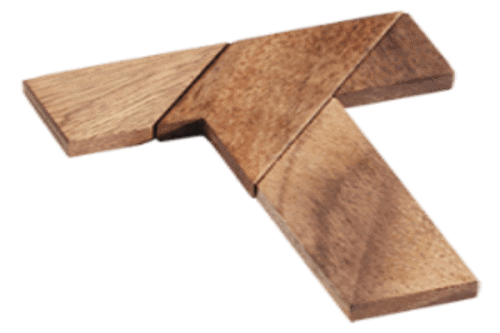 פאזל T -משחקי חשיבה אתגרי מעץ